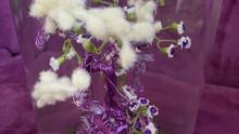 Purple Bonsai Crystal Tree