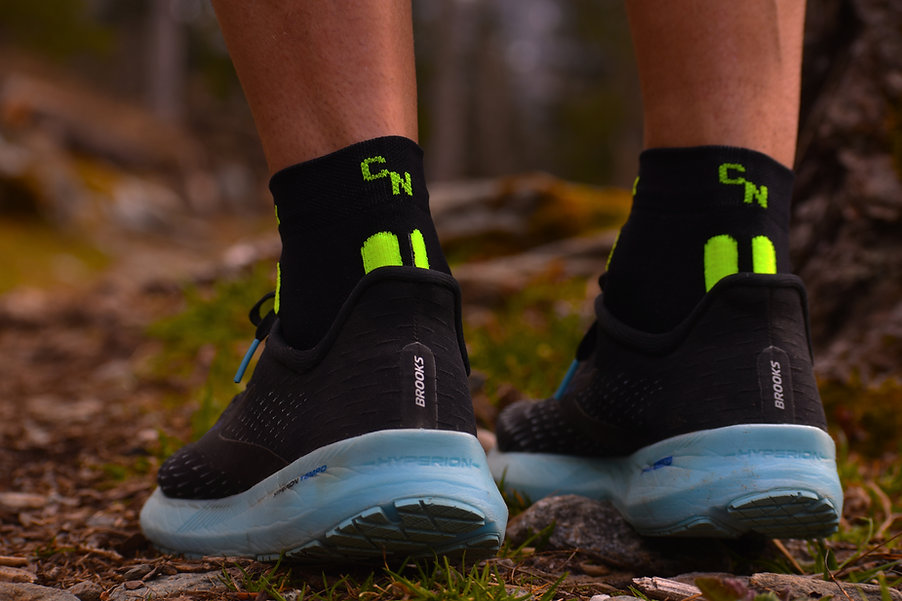 Chaussettes trail made in France Curlynak CN-SPEED jaune les bossons.jpg