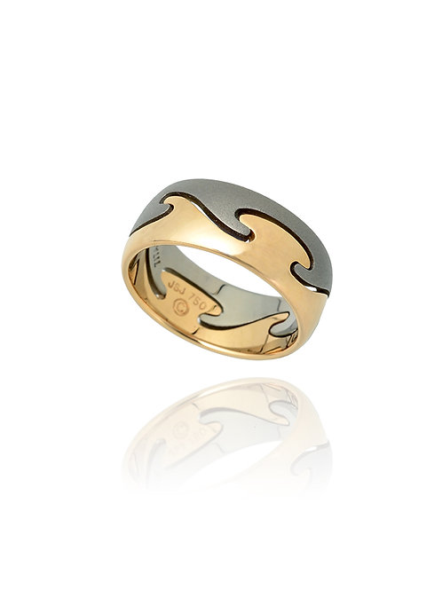 WAVE INTERLOCKING RING