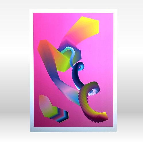 Data Flow - A3 Fine Art Print