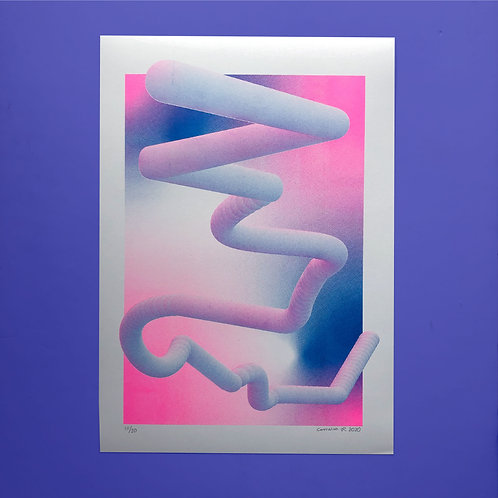 'Embedded №1' - A3 Risograph print