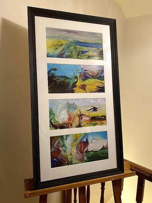 Framed Seasons Artwork by Annie Haslam