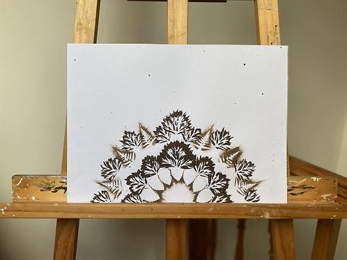 'Rising Sun' [Original Ink Drawing by Frances Sladen] + Storm Cogs