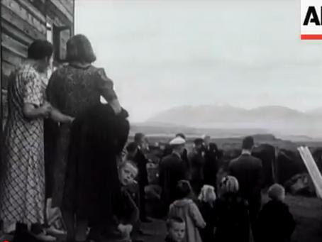 Fjölskylda í Lögmannshlíð birtist í áróðursmyndbandi breska hersins