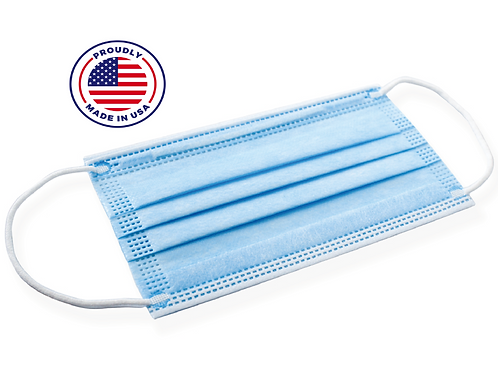 Made in USA 3-Ply Surgical Masks - Level III, FDA Registered, 2000 count