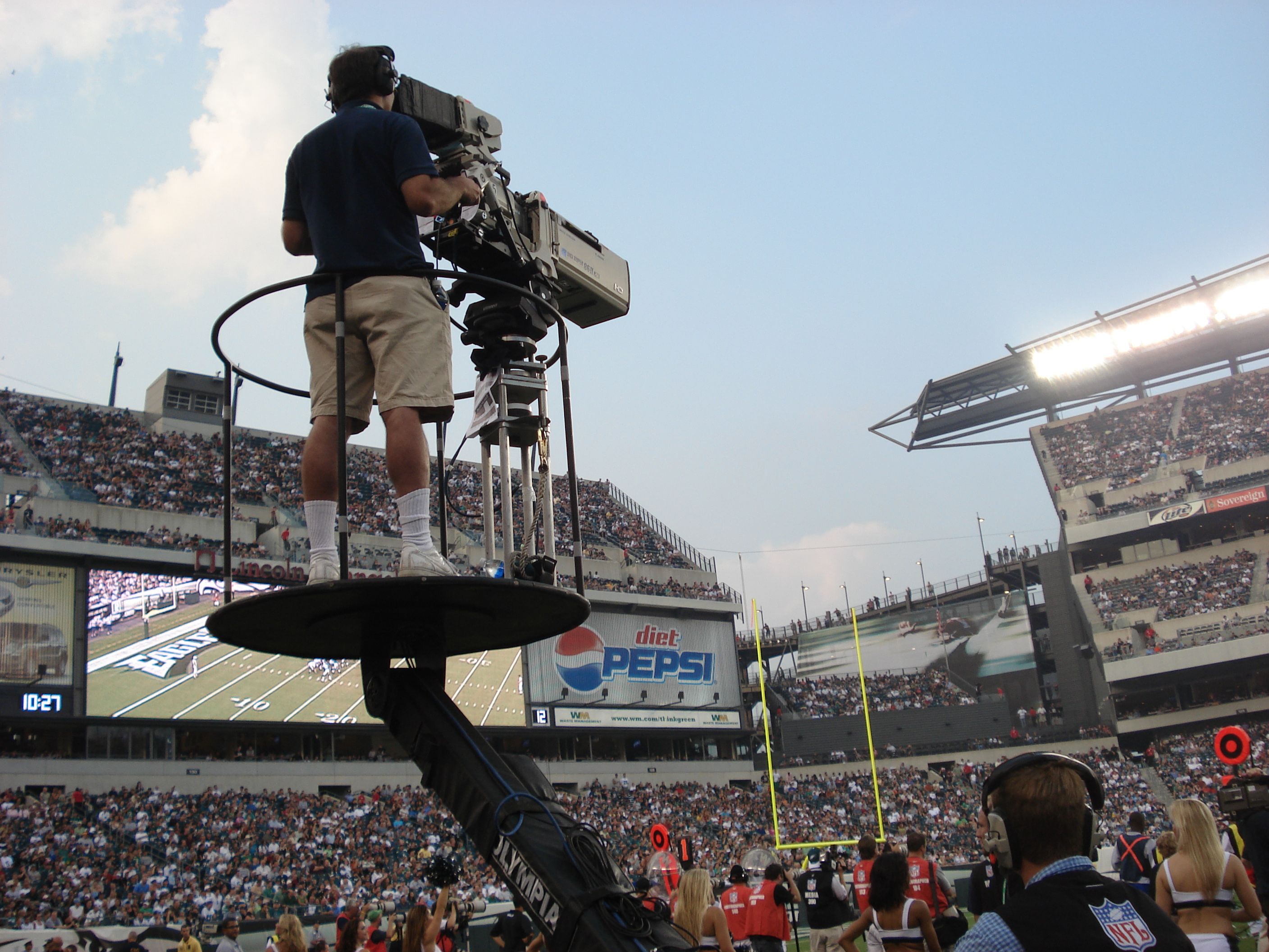 TV Crew Cart Cam