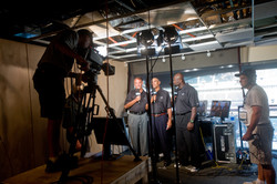 TV Crew Announce Booth