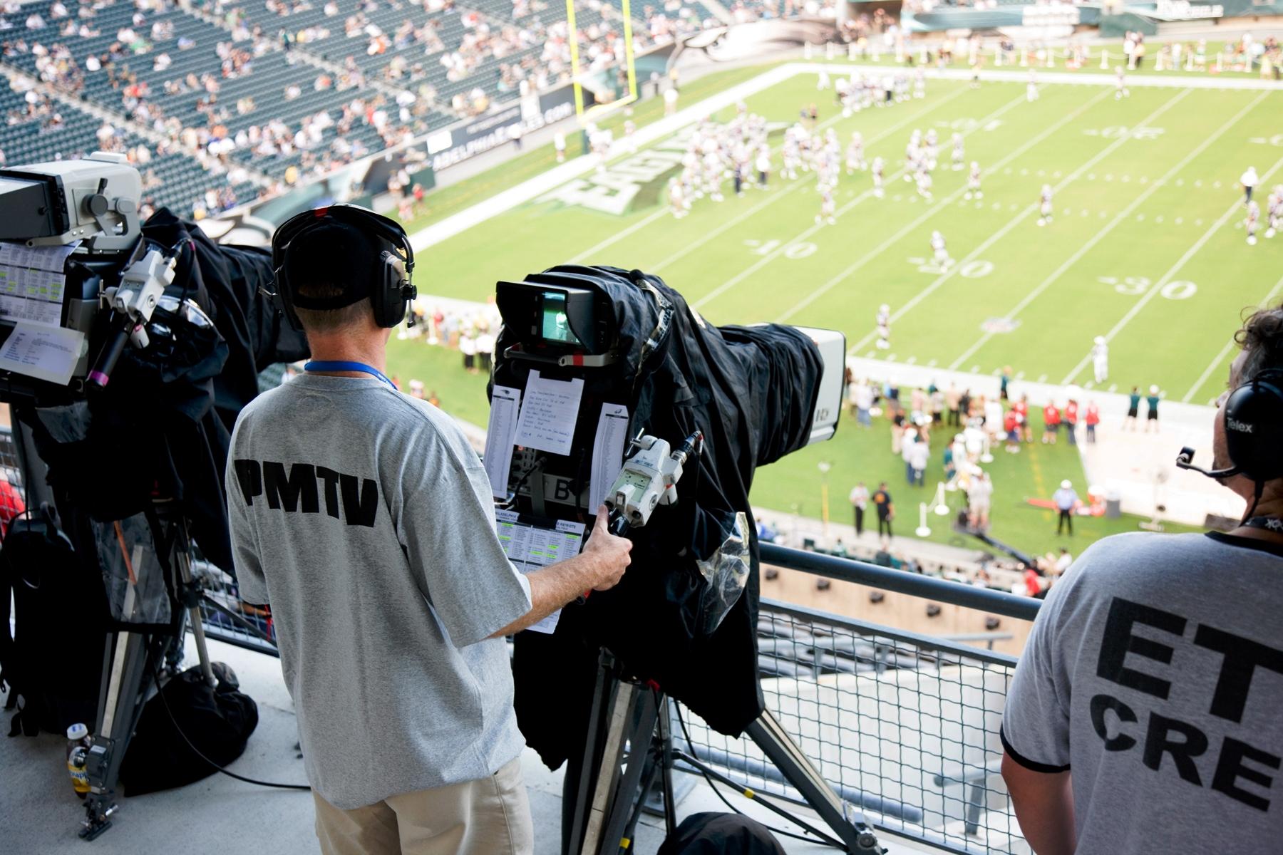 TV Crew Game Camera