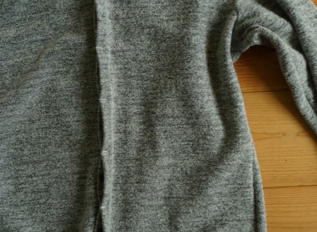 loose fitted wool jersey shirt