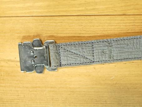 half raw sharkskin belt