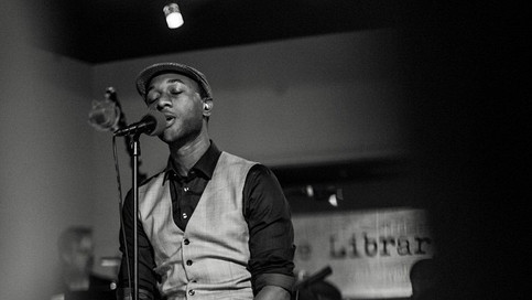 Aloe Blacc performs at the studio's Library series