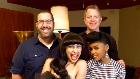 Tim and Chris with Kimbra and Grammy-winner Janelle Monae
