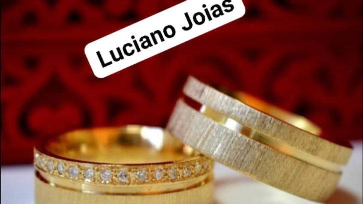 Aliança ouro 18 K 750 de Luxo