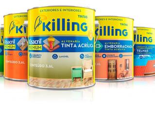 Linha Kisacril Premium da Tintas Killing ganha novas embalagens