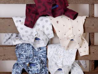 Luaus do Havaí embalam nova coleção de camisaria da Breda Baby, Kids e Jr.