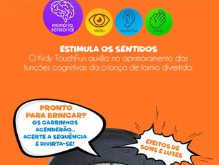 Tênis Kidy Touch Fun: Modelo com game interativo que estimula o desenvolvimento das crianças