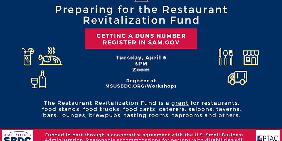 Preparing for the Restaurant Revitalization Fund
