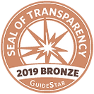 GuideStar Seal of Transparency - 2019 Bronze