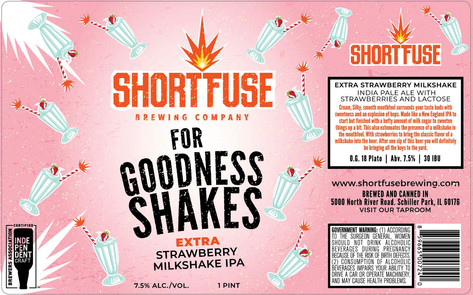 Extra Strawberry Milkshake