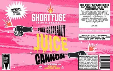 Pink Grapefruit Juice Cannon