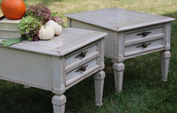 Hand Painted End Tables