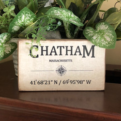 Handcrafted Coordinates Sign