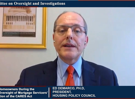 HPC President Ed DeMarco Testifies to Congress on Mortgage Servicing and COVID-19 Response