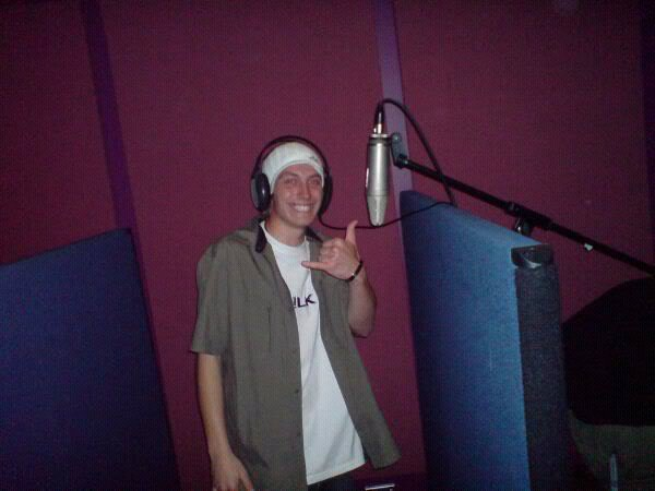 In the Studio, On The Mic!