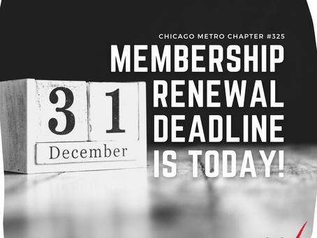 Membership Deadline is This Thursday!