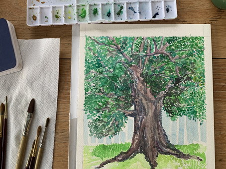 Create/Encourage Ep1: Watercolor + Katherine