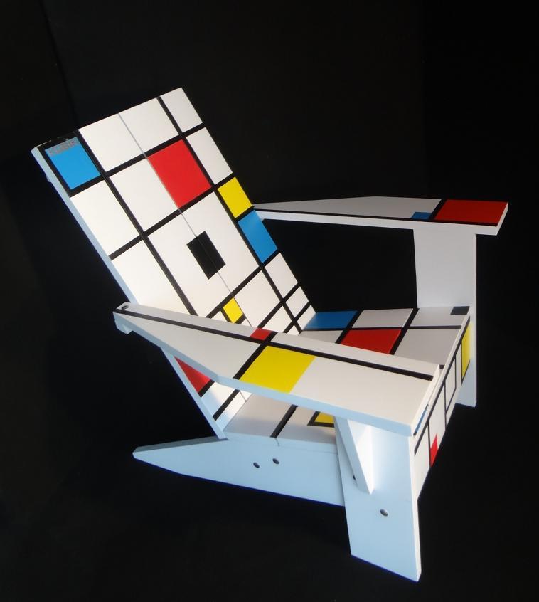 Fauteuil Adirondack Kubik Mondrian 3