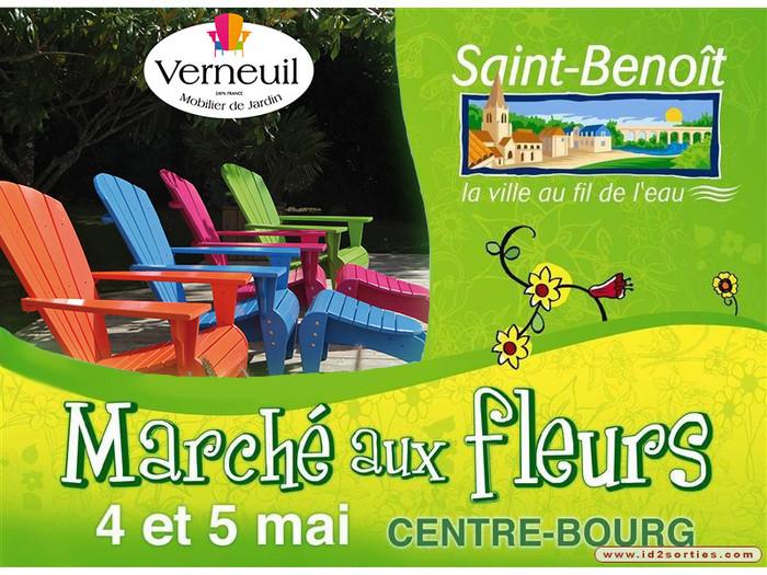 Le Fauteuil Adirondack Verneuil s'expose au Marché aux Fleurs de Saint-Benoît (86)