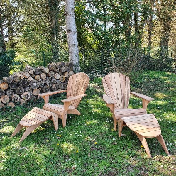 Un ensemble fauteuils et repose-pieds dans les Yvelines...Paré pour un confinement réussi !