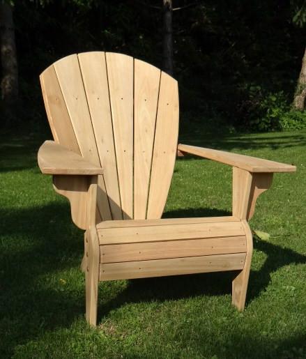 Nouvelle série de fauteuils Adirondack Verneuil, finition naturelle en fabrication...Livraison sous