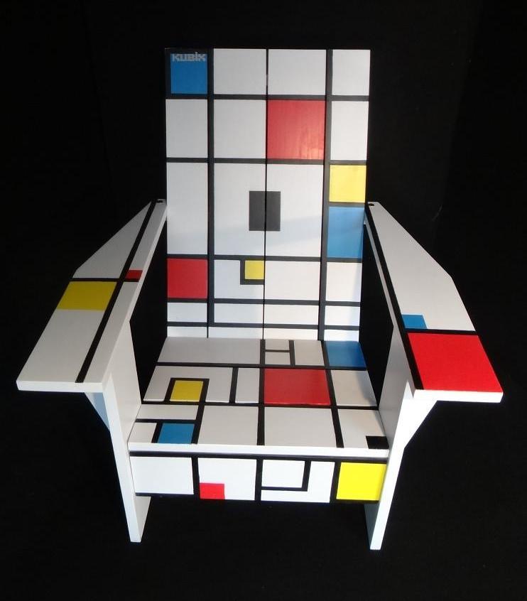 Fauteuil Adirondack Kubik Mondrian 1