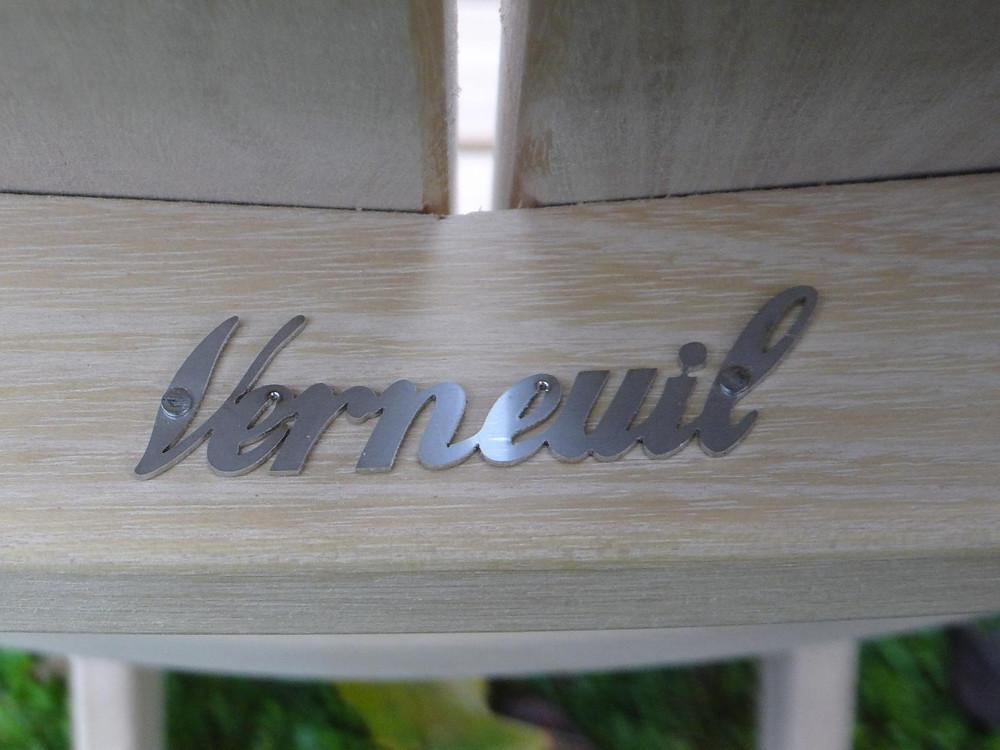 Fauteuil Adirondack Verneuil logo inox