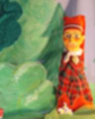 Gele marionet