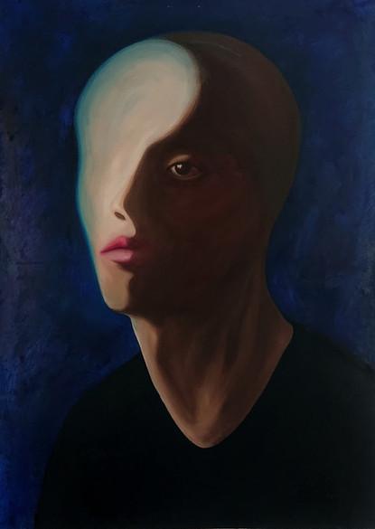 oil portrait DIN A1