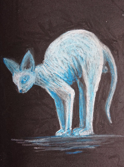 oil pastel on black paper, A5  available