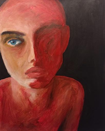 acrylic portrait study