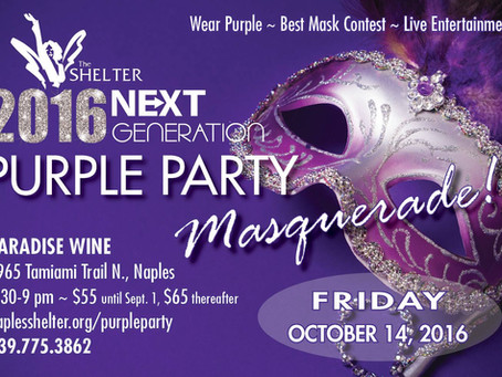 Law Office of Matthew P. Flores Sponsors The Shelter Naples' Purple Party