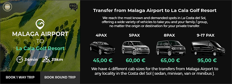 Transfer from Malaga Airport to La Cala Golf Resort