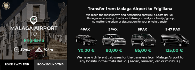 Transfer from Malaga Airport to Frigiliana