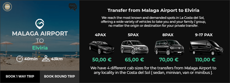 Transfer from Malaga Airport to Elviria