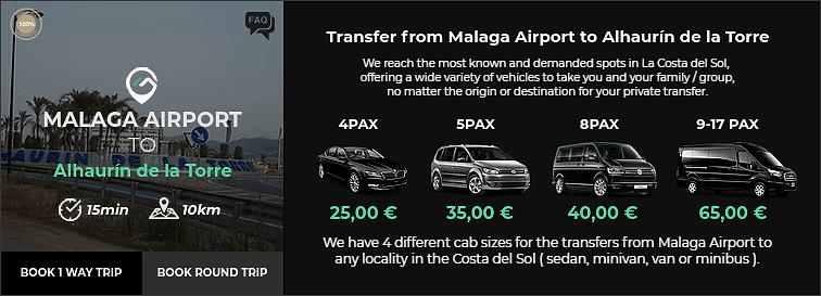 Transfer from Malaga Airport to Alhaurin de la Torre