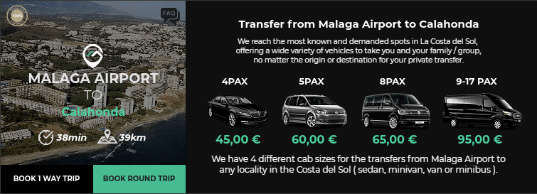Transfer from Malaga Airport to Calhonda
