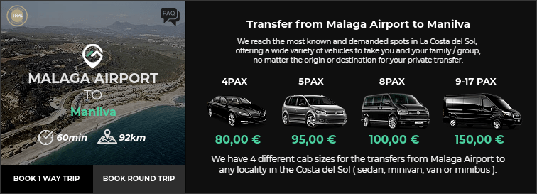 Transfer from Malaga Airport to Manilva