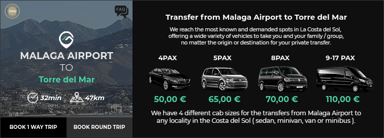 Transfer from Malaga Airport to Torre del Mar