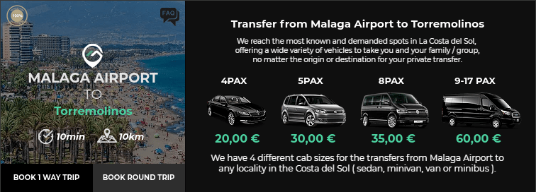 Transfer from Malaga Airport to Torremolinos