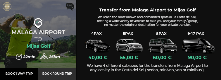 Transfer from Malaga Airport to Mijas Golf